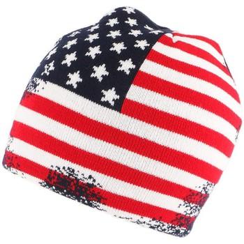 Accessoires textile Bonnets Nyls Création Bonnet Usa Vintage blanc Rouge et Bleu Blanc