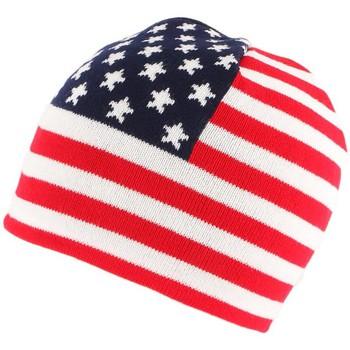 Accessoires textile Bonnets Nyls Création Bonnet Usa Blanc Bleu et Rouge Blanc