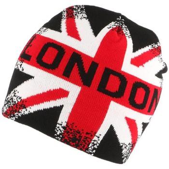 Accessoires textile Bonnets Nyls Création Bonnet London Vintage Rouge Noir et blanc Bleu