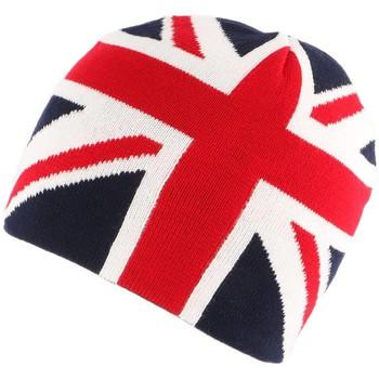 Accessoires textile Bonnets Nyls Création Bonnet Anglais Bleu rouge et blanc Bleu