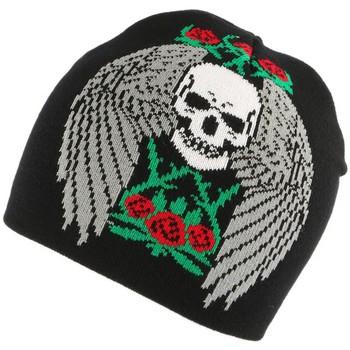 Accessoires textile Homme Bonnets Nyls Création Bonnet Biker Noir avec Aigle Noir