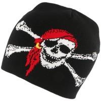 Accessoires textile Bonnets Nyls Création Bonnet Biker Noir Pirate Noir