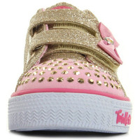 Chaussures Fille Baskets basses Skechers Twinkle Toes S Light Shuffles Glitzy Games dore