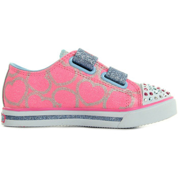 Chaussures Fille Baskets mode Skechers Twinkle S Lights Heartsy Glam rose