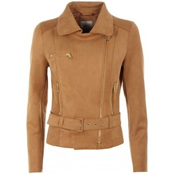 Vêtements Femme Blousons Guess Blouson tailleur Femme W64L15 Marlene Brun Cognac 28