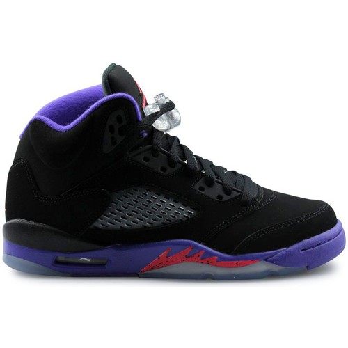 Chaussures Fille Baskets montantes Nike Jordan 5 Retro Raptors Junior Noir Noir