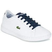 Chaussures Enfant Baskets basses Lacoste CARNABY EVO Blanc / Marine