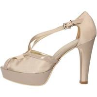 Chaussures Femme Sandales et Nu-pieds Sergio Cimadamore CIMADAMORE sandales beige satin cuir verni AF482 beige
