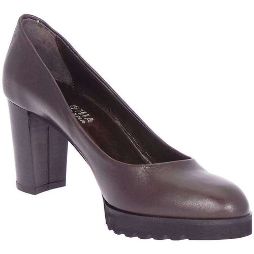Paola Ghia 5346 Escarpins Femme Brun foncé Brun foncé - Chaussures Escarpins Femme