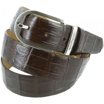 Accessoires textile Homme Ceintures Emporio Balzani ceinture cuir croco marron Marron