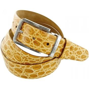 Accessoires textile Homme Ceintures Emporio Balzani ceinture cuir croco beige Beige