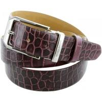 Accessoires textile Homme Ceintures Emporio Balzani ceinture cuir croco violet Violet
