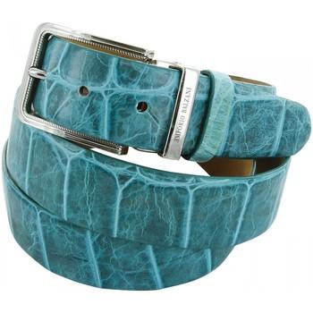 Accessoires textile Homme Ceintures Emporio Balzani ceinture cuir croco vert Vert