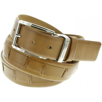 Accessoires textile Homme Ceintures Emporio Balzani ceinture cuir havane beige Beige