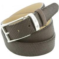 Accessoires textile Homme Ceintures Emporio Balzani ceinture en cuir snake marron Marron