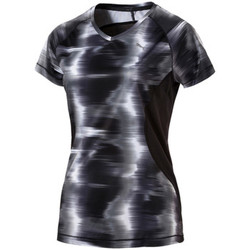 Vêtements Femme T-shirts manches courtes Puma Graphic S/S Tee W Puma Black Heather