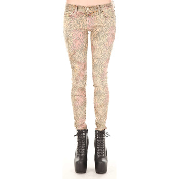 Vêtements Femme Jeans skinny Current Elliott Jeans The Ankle Skinny  Beige Python Beige