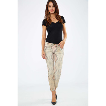 Vêtements Femme Jeans slim Current Elliott Jeans The Stiletto Current Elliot Ticca Multicolor