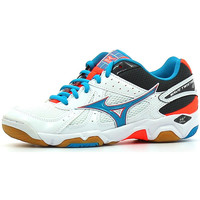 Chaussures Femme Sport Indoor Mizuno Wave Twister 4 W White / A Blue / Fiery Coral
