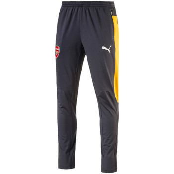 Vêtements Homme T-shirts manches courtes Puma AFC Training Pant tapered Ebony / Spectra Yellow
