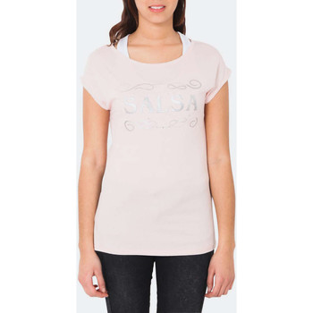 Vêtements Femme T-shirts manches courtes Salsa Top France  Rose Rose