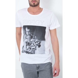 Vêtements Homme T-shirts manches courtes April 77 Tee Shirt Mc Effigy  Blanc Blanc