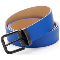 Accessoires textile Homme Ceintures Guess Ceinture Metal Buckle Bleu Bleu
