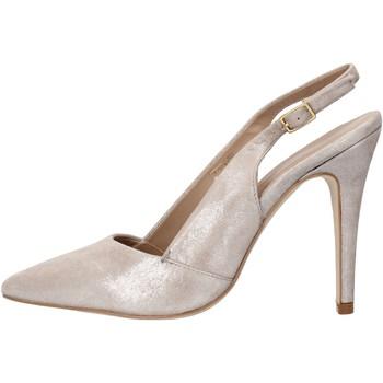 Chaussures Femme Sandales et Nu-pieds Carmens Padova chaussures femme  sandales gris cuir scamosciata AF503 gris