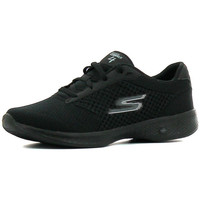 Chaussures Femme Baskets basses Skechers Go Walk 4 Exceed Black