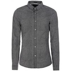 Vêtements Homme Chemises manches longues Guess Chemise LS Rich Print Poplin Gris Foncé Gris
