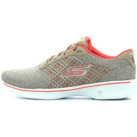 Chaussures Femme Baskets basses Skechers Go Walk 4 Exceed Taupe / Coral