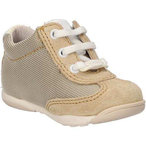 Chaussures Garçon Baskets mode Balducci chaussures garçon  sneakers beige textile daim AF694 beige