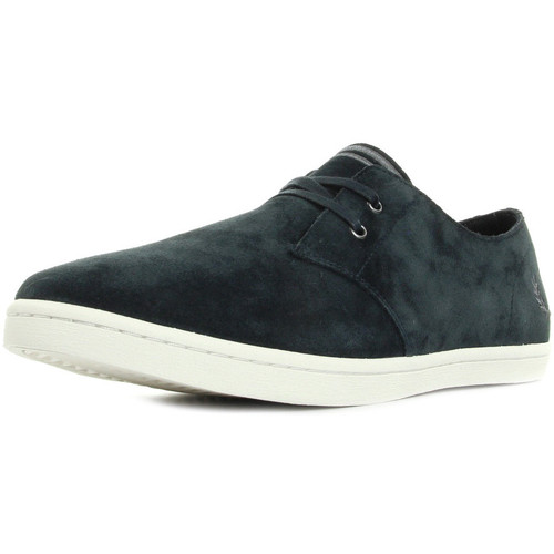 Baskets Fred Perry Byron Low Suede Navy Falcon Grey Dq6g5B