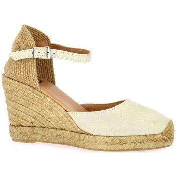 Chaussures Femme Espadrilles Pao Espadrille cuir laminé Beige