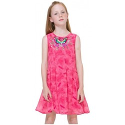 Vêtements Fille Robes courtes Desigual Robe Victoria Fuchsia Rose 71V32E1 Rose