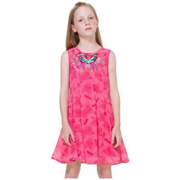Vêtements Fille Robes Desigual Robe  Victoria Fuchsia Rose 71V32E1 Rose