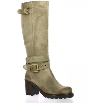 Chaussures Femme Bottes Pao Bottes cuir velours Taupe