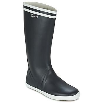 Chaussures Homme Bottes de pluie Aigle GOELAND Marine / Blanc