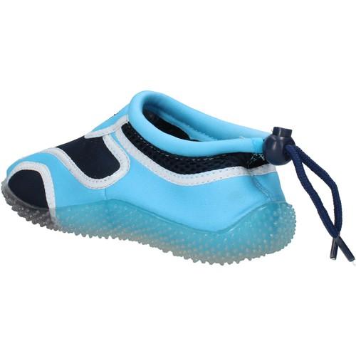 Chaussures Garçon Baskets mode Everlast sneakers bleu textile celeste caoutchouc AF852 multicolor