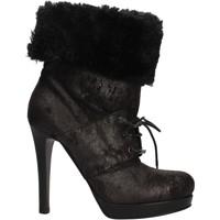 Chaussures Femme Bottines Pin Ko PINKO bottines noir daim fourrure AF906 noir