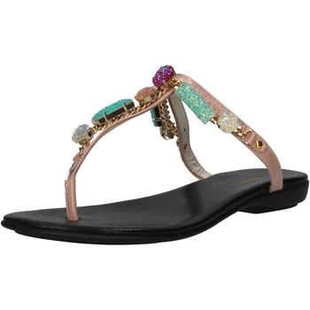Chaussures Femme Sandales et Nu-pieds P. Di Paciotti chaussures femme CESARE P. sandales rose cuir verni AF935 rose