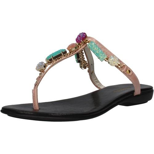 Chaussures Femme Sandales et Nu-pieds Cesare P. Di Paciotti chaussures femme CESARE P. sandales rose cuir verni AF935 rose