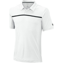 Vêtements Homme Polos manches courtes Wilson M Team Polo White / Black