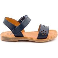 Chaussures Fille Sandales et Nu-pieds Boni Classic Shoes Sandales en cuir à scratch - DAISY Bleu Marine