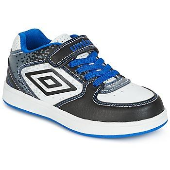 Chaussures Garçon Baskets basses Umbro DOGAN VLC Blanc / Bleu