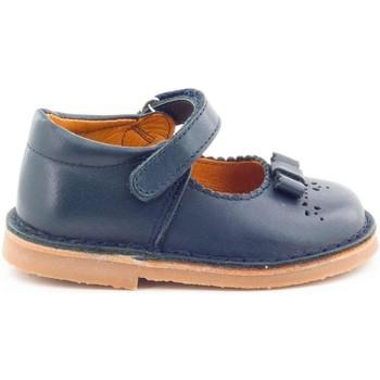 Chaussures Fille Ballerines / babies Boni Classic Shoes Babies en cuir à scratch - ALIZEE Bleu Marine