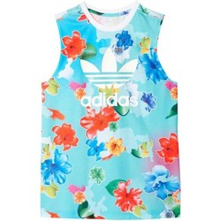 Vêtements Fille Débardeurs / T-shirts sans manche adidas Originals J FLWR L TANK MULTICOLOR Multicolore