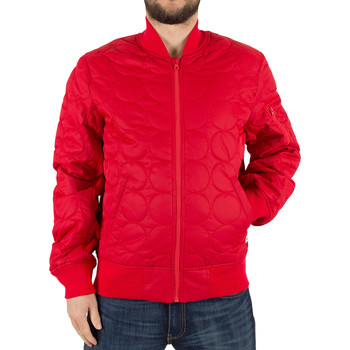 Blouson Converse homme quilted shield logo bomber jacket, rouge