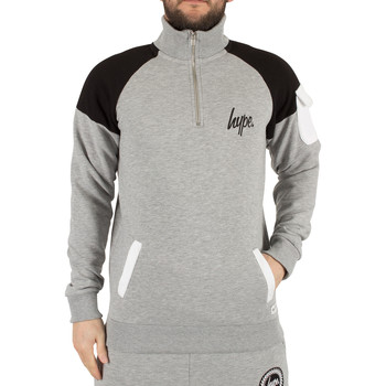 Vêtements Homme Sweats Hype Homme Docker Sweatshirt Logo Zip, Gris gris