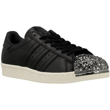 Chaussures Femme Baskets basses adidas Originals Superstar 80S 3D MT W Noir-Argent